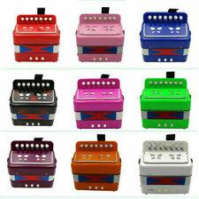 Kinder Akkordeon Ziehharmonika 7 Tasten Pädagogisches Spielzeug Geschenk DE