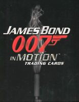 James Bond in Motion Collector Card Album with Autograph & Promo P2