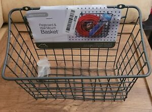 """Spectrum Diversified 10"""" x 5"""" x 7"""" Pegboard & Wall Mount Large Wire Basket New"""