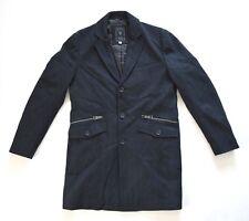 GUESS Men's Button Down Long Coat – Black sz M