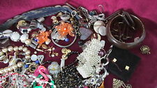 VTG Broken & Random Jewelry Lot - 2.6lbs Junk Drawer Crafts Repair 41502