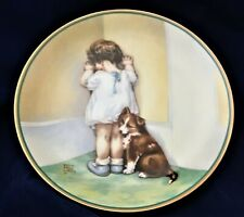 """Bessie Pease Gutmann Lmt. Ed. Collector Plate """"In Disgrace"""" 1st Issue in Series!"""