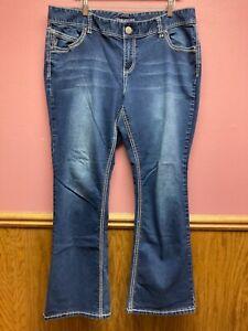Maurices Mid-Wash Boot Cut Denim Jeans Cotton Blend Womens Size 20 Reg EUC