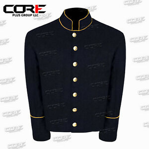 US Civil War CS Multi Color Pipping Trim Navy Wool Shell Jacket All Sizes!