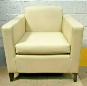 Cream Angular Square Casual Armchairs