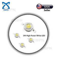 10Pcs 3W Cool White High Power LED Chip SMD Beads Buld Light Lamp 10000-15000k