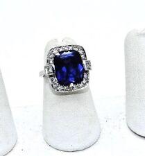Estate Vintage 1950 F&F Felger 14k Fine Blue Sapphire Diamond Ring