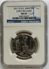 2011 D BU US Army Commemorative Fifty Cent Coin Certified NGC MS69 K7