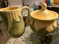 Shawnee Corn King Creamer and Sugar Bowl + Lid #70 and #78