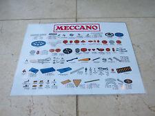 "Meccano Parts List - ""Dealer Cabinet"" Parts Card. 1970's Blue/Yellow/Zinc Era"