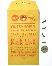 4pc 1960s Gilbert Auto-Rama Slot Car CENTER PICK-UPS Rare 19261 OEM 1/32 Parts
