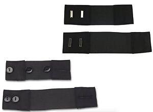 Self-Adjusting Button & Hook Waist Stretch Extension (4pk: Button & Hook)