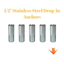 """1/2"""" Drop-In Anchor .304 Stainless Steel (Pack of 5)"""