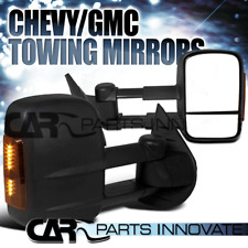 07-14 Silverado Sierra Power Heated Extending Towing Mirrors+LED Signals LH+RH