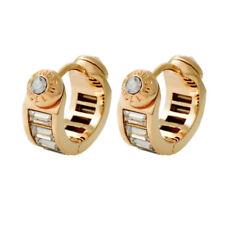 Henri Bendel Gold Tone Semicircle Zircon Pave Stud Earrings