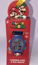 NW Super MARIO & LUIGI Nintendo Flashing Dial Kids WATCH Stocking Christmas