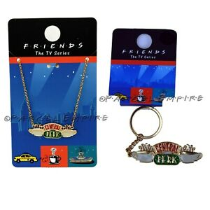 Friends TV Series Central Perk Key Chain Ring Necklace Joey Rachel Monica Ross
