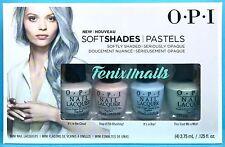 OPI DD S33 SOFT SHADES PASTELS 4-pc Mini Nail Polish Set~Cloud Blushing Boy Mint