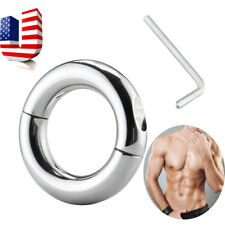 Lockable Mental Penis Stretcher Metal Ball Enhancer Heavy Weight Toy USA