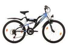 """VTT Enfant 18 Vit Tout Suspendu 24"""" Zodiac Bleu Vélo Neuf TC38cm KS Cycling 631K"""