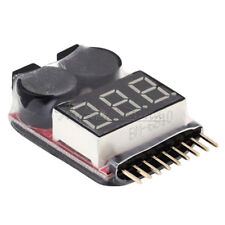 1-8S Buzzer Lipo Alarm Warner Schutz Checker Voltage LED Anze H4Y0 Pieper I7P9