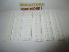 Lego - 6x Plaque plate 2x10 10x2 3832 White/Blanc/Weiss