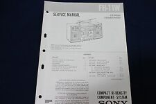 Original Sony FH-11W Compact Hi-Density Componet System Boombox Service Manual