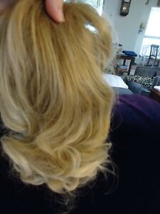 """11"""" Clip on Curly Hair Piece - Light Ash Blonde"""