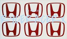 6 Pcs JDM ITR CTR DC2 EK9 Type R H Logo Decals Stickers for honda Center Cap