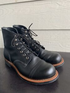 RED WING Heritage Iron Ranger Black 8084 Boots 9D