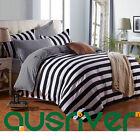 4pcs Zebra Strip Single/Double/Queen/S King Size Bed Quilt/Doona/Duvet Cover Set