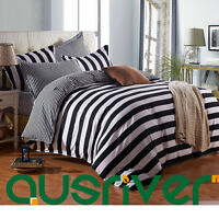 4pcs Zebra Strip Single/Double/Queen/S King Size Bed Quilt/Doona/Duvet Cover Set