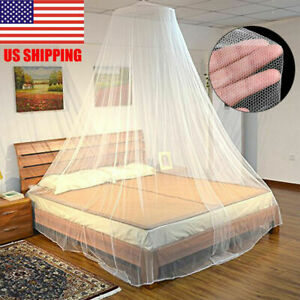 Quick Easy Installation Peyan Bed Canopy Netting Dome Mosquito Net Round Lace Dome for Twin Double Bed and Queen Size Beds Crib