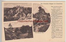 (98121) AK Dörenther Klippen, Ibbenbüren, m. Gedicht -Das hockende Weib- 1933