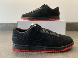 Nike Dunk 'Nike By You' ID 'Black Pigeon' Inspired Black Red UK Size 11.5 EUR 47