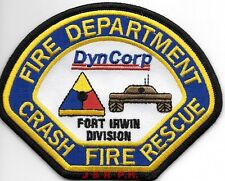 "Industrial - DynCorp-Ft. Irwin Division  C.F.R., CA (4.5"" x 3.5"") fire patch"