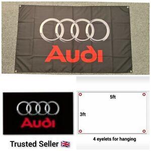 Audi Workshop Garage Banner Flag Mancave RS3 RS4 RS5 RS6 RS7 S3 S4 S5 S7 TTRS
