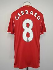 Liverpool Home Football Shirt Adult Medium GERRARD #8 2014/2015