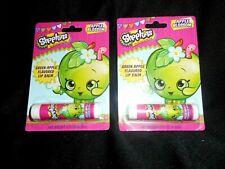 2 Shopkins Apple Blossom Lip Balm Flavor Twist Dispenser Gift Stocking Stuffer
