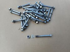 "Used, !!! 20 pcs. 3/8"" x 3"" NF Thread Stainless Steel Hex Bolts With Nut, Washer"