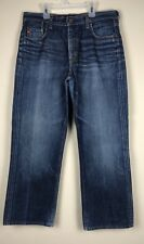 Adriano Goldschmied Men's The Hero Relaxed Straight Blue Denim Jeans sz 36