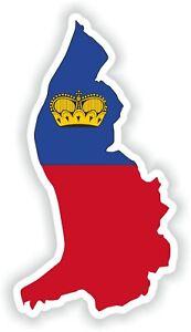 Liechtenstein Map Flag Vinyl Sticker High resolution Quality Waterproof sticker