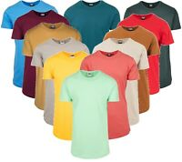 Urban Classics Herren T-Shirt Shaped Long Tee Extra Lang Oversize T-Shirts Shirt