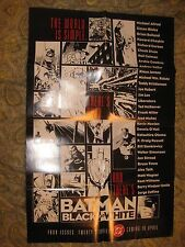 ORIGINAL '96 BATMAN BLACK AND WHITE PROMO POSTER FRANK MILLER RICHARD CORBEN ART