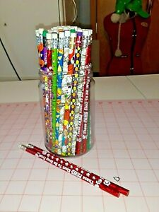 Lot of student holiday and sports pencils