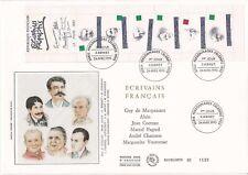 Enveloppe grand format 1er jour 1993 Ecrivains célèbres Français