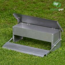 Alphapet Aluminium Automatic Self Opening Waterproof Chicken Feeder Treadle Safe