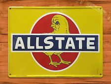 "TIN SIGN ""Allstate Chick"" CHICKEN INSURANCE CAR Wall Decor"