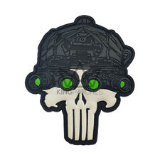 Punisher Skull Airsoft PVC Badge Patch NEW