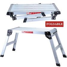 Folding Bench Stool Ladder Drywall Step Up Platform Aluminum Height off Ground